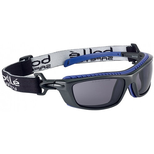 Bolle Baxter BAXPSF Safety Glasses Smoke with Platinum Coating Ref BOBAXPSF
