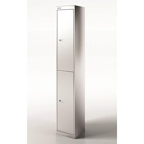 Bisley Steel Locker 305 Two Door Silver