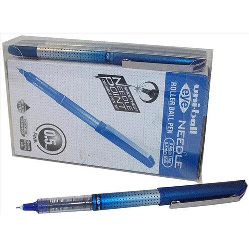 Uni-ball UB-185S Eye Needle Rollerball Pen 0.5mm Tip Blue Ref 125948000 Pack of 12