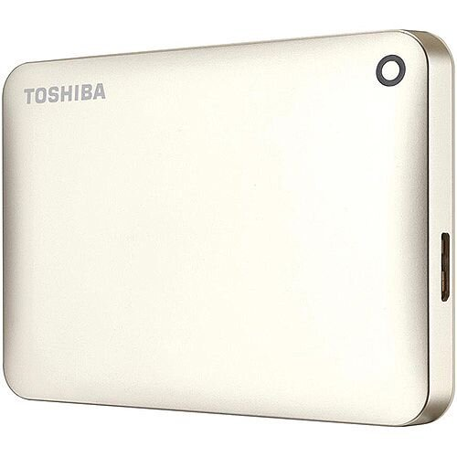 Toshiba Canvio Connect II Hard Drive USB 3.0 and 2.0 Compatible 500GB Gold Ref HDTC805EC3AA