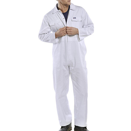 Click Workwear Boilersuit Work Overall Size 54 White Ref PCBSW54