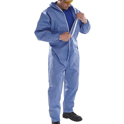 Click Once Disposable Boilersuit Work Overall Type 5/6 Size 3XL Navy Blue Pack of 20 Ref COC10NXXXL