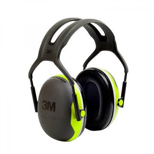 3M PELTOR X4A Hi-Viz Headband Ear Defender Headset SNR33 Black &Green Ref X4A