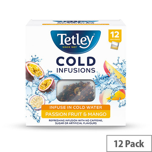 Tetley Cold Infusions Passion Fruits &Mango Ref 1602A Pack of 12
