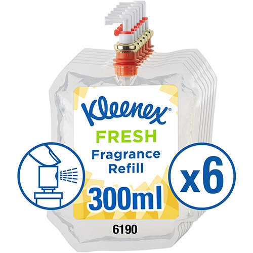 Kleenex Botanics Botanics Aircare Fresh Refill 300ml Ref 6190 Pack of 6