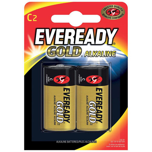 Eveready Gold C Alkaline Batteries Pack of 2]