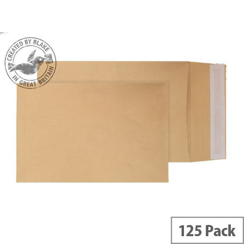 Blake Purely Packaging B4 140g/m2 Peel and Seal Pocket Envelopes Manilla Pack of 125