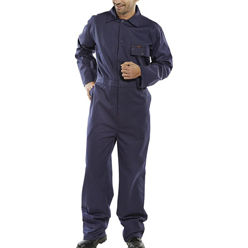 Click Workwear Cotton Drill Boilersuit Work Overall Size 54 Navy Blue Ref CDBSN54