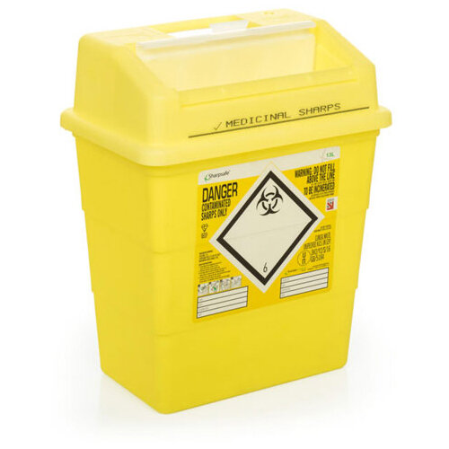 Click Medical Sharpsafe 13 Litre Sharps Bin Yellow Ref CM0647