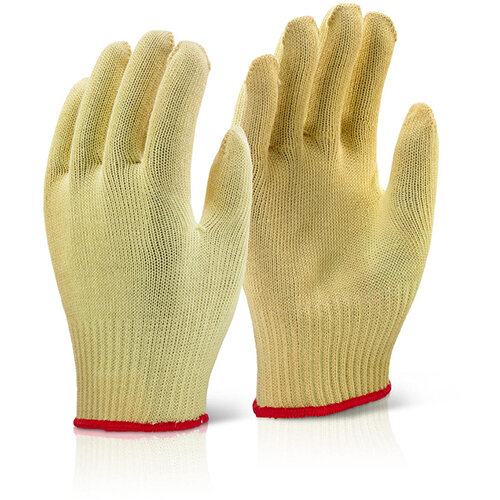 Click Kutstop Kevlar Mediumweight Work Gloves Yellow Size XL (10) Pack of 10 Pairs Ref KGMW10