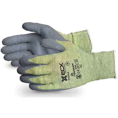 Superior Glove Emerald CX Kevlar Wire-Core Latex Palm 10 Grey Ref SUS13CXLX10