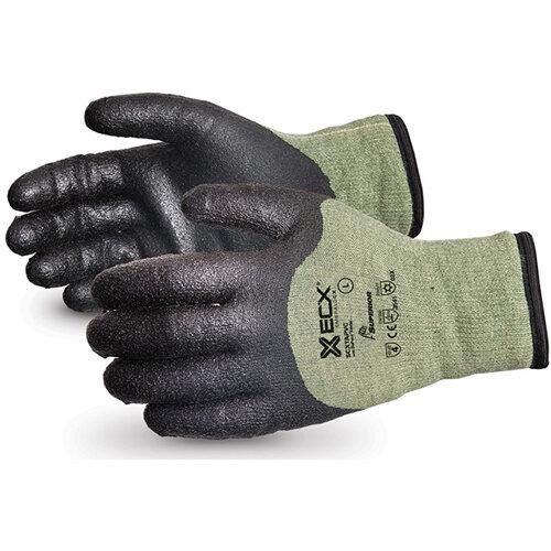 Superior Glove Emerald CX Kevlar/Steel Winter PVC Palm L Black Ref SUSCXTAPVCL