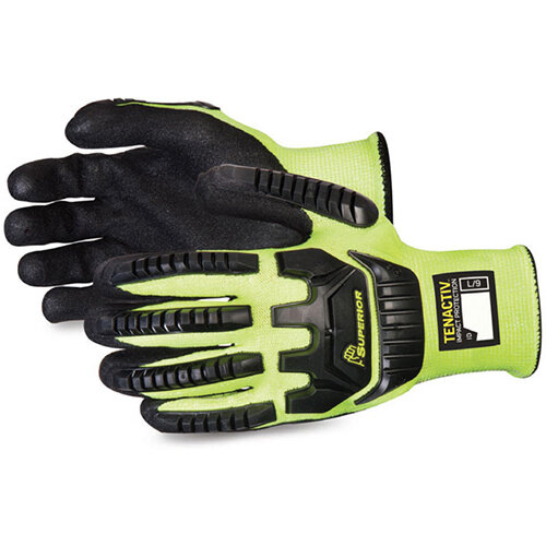 Superior Glove Tenactiv Anti-Impact Hi-Vis Black Widow 12 Yellow Ref SUSTAGYPNVB12
