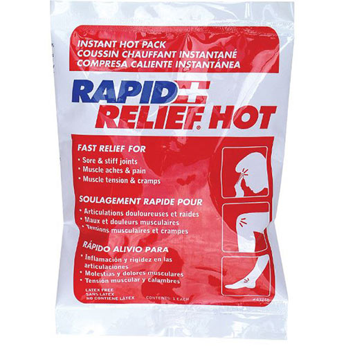 Rapid Relief Instant Hot Pack Latex Free Small 4in x 6in Ref RA43246