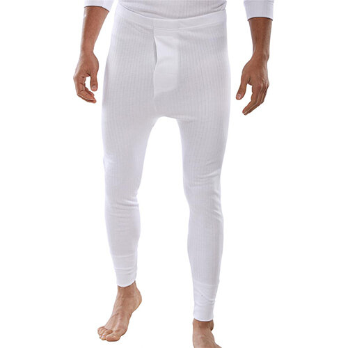 Click Workwear Thermal Long John Trousers Size 2XL White Ref THLJWXXL