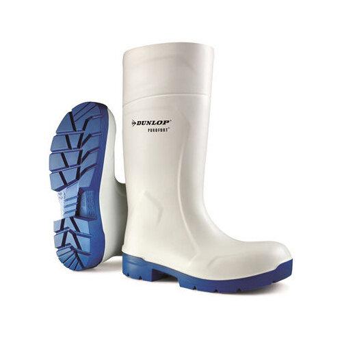 Dunlop Purofort Multigrip Safety Wellington Boots Size 10 White Ref CA6113110
