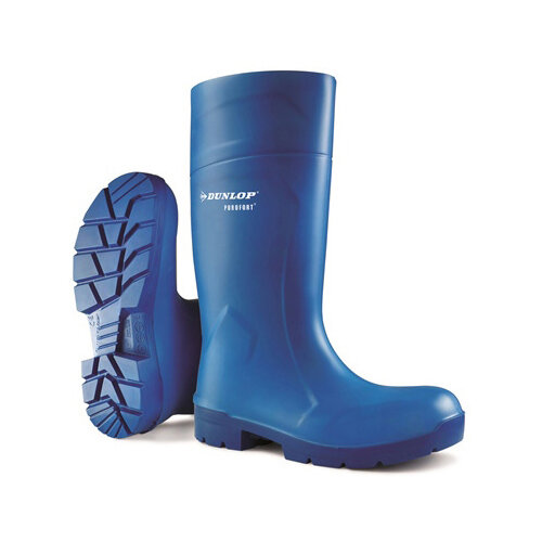 Dunlop Purofort Multigrip Safety Wellington Boots Size 10.5 Blue Ref CA6163110.5