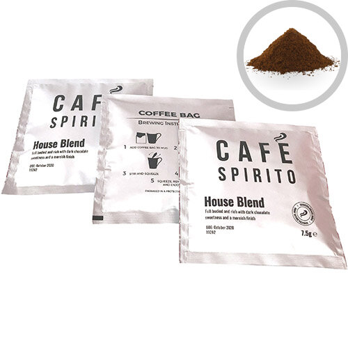 Cafe Spirito Coffee Bags House Blend Pack of 100