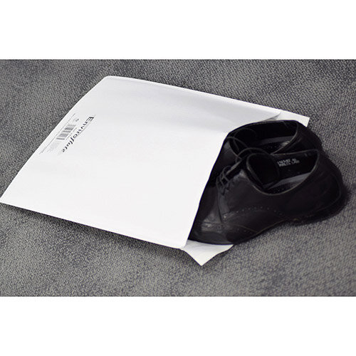 Enviroflute Paper Mailing Bag 350x470mm White Pack of 100 Ref EF7/K
