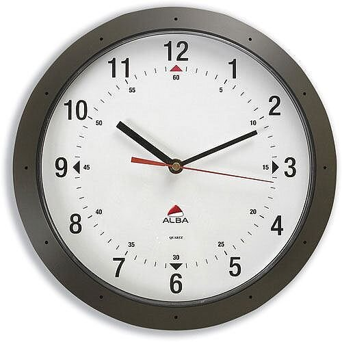 Easytime DarkGrey Round Wall Clock Quartz Diameter 320mm