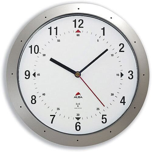 Radio Controlled Wall Clock Diameter 300mm Grey
