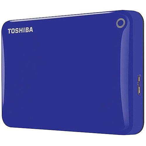 Toshiba Canvio Connect II Hard Drive USB 3.0 and 2.0 Compatible 500GB Blue Ref HDTC805EL3AA