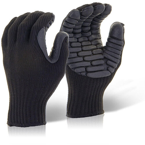 Glovezilla Anti-Vibration Gloves Black Size L  Ref GZAVGL