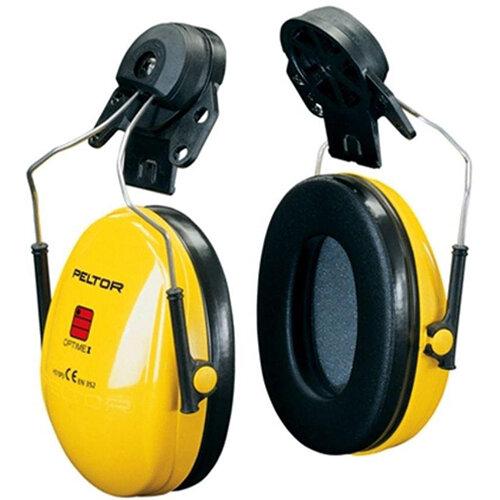 3M PELTOR Optime I H510P3E Helmet Mounted Ear Defender Headset SNR26 Black &Yellow Ref H510P3E-405-GU