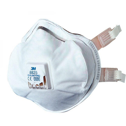 3M Valved Respirator FFP3 Classification White Pack of 5 Ref 8825