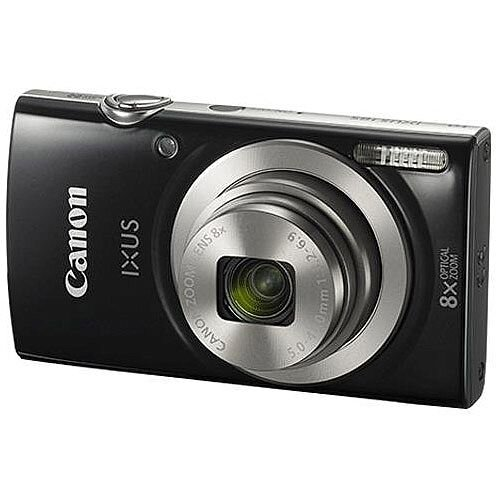 Canon IXUS 185 20MP Digital Camera 8x Optical Zoom 2.7 inch LCD Black