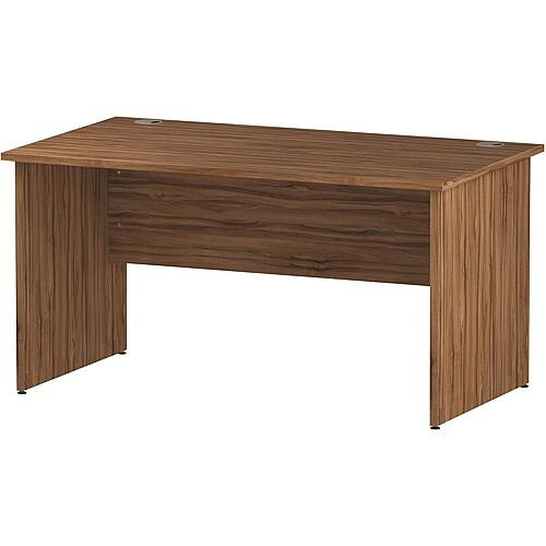 Rectangular Panel End Office Desk Walnut W1400xD800mm
