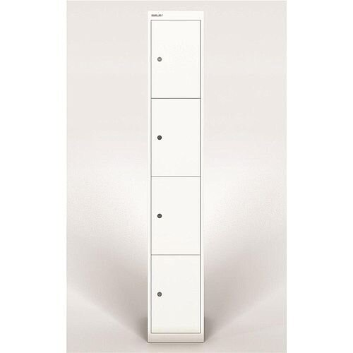 Bisley Steel Locker 305mm Deep 4 Door Chalk White