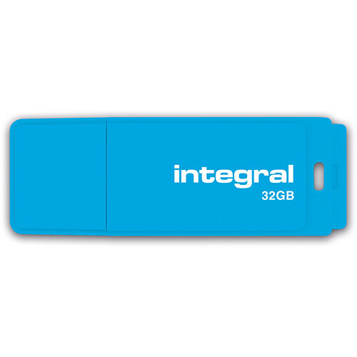 Integral Neon USB Drive 2.0 32GB Blue Ref INFD32GBNEONB