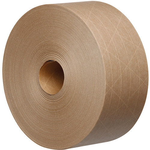 Reinforced Water Activated Kraft Tape Recycable 125gsm 70mmx100mtr Brown Ref KR7010B-GSI Pack of 16