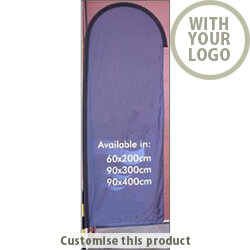 Medium Feather Flag Banner with Water/Sand Base 148042 - Customise with your brand, logo or promo text