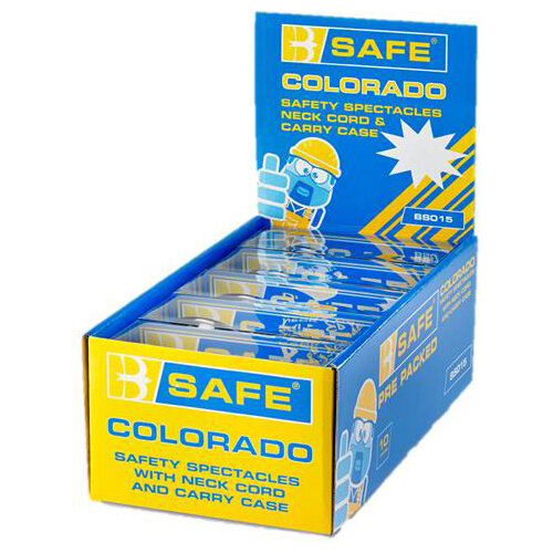 BSafe Colorado Safety Spectacles Clear Ref BS015