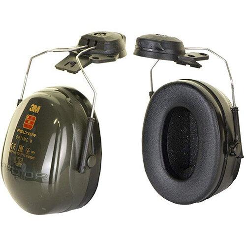 3M PELTOR Optime II H520P3E Helmet Mounted Ear Defender Headset SNR31 Black Ref H520P3E-410-GQ