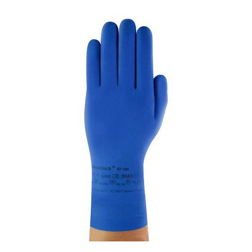 Ansell VersaTouch Size 9 Latex Rubber Light-Duty Work Gloves Blue