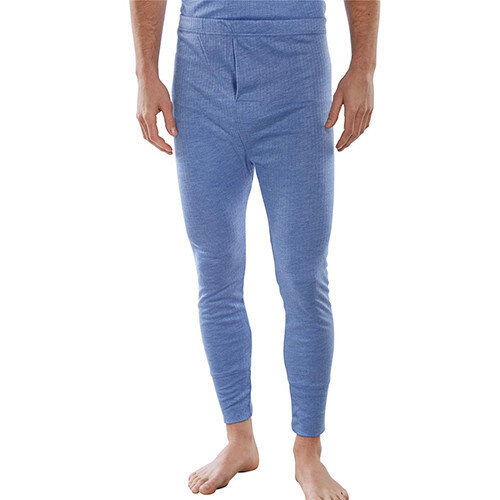 Click Workwear Thermal Long John Trousers Size XL Blue Ref THLJXL