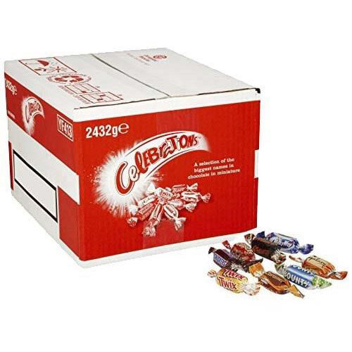 Celebrations Chocolates Assorted Flavours 2432g Bulk Case