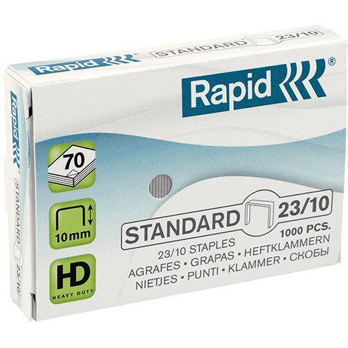 Rapid Standard 23/10 Staples 10mm Shank Length Pack of 1000