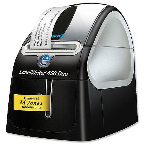 DYMO LabelWriter 450 Duo - Label printer - thermal paper - Roll (6.2 cm) - 600 x 300 dpi - up to 71 labels/min - USB