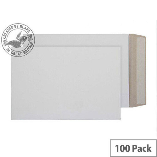 Purely Packaging Envelopes All Board Peel and Seal 350gsm 324x229mm White (Pk 100)