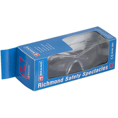 BBrand Richmond Safety Spectacles Clear Retail Packaging Ref BS090