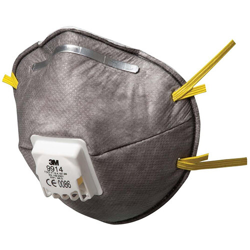 3M 9914 Cool Flow Valved Dust Respirators FFP1 Classification Grey Pack of 10 Ref 9914