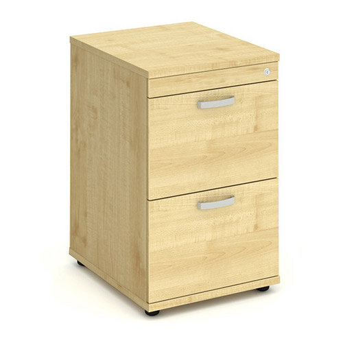 2 Drawer Filing Cabinet WxDxH 500x600x800mm Maple