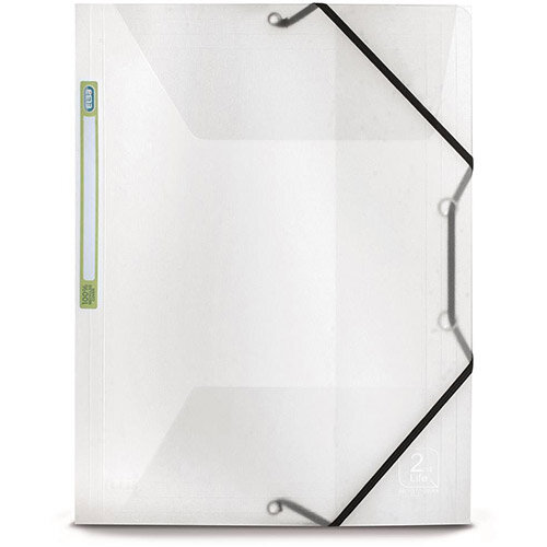 Elba 2nd Life A4 Elasticated Folder 3-Flaps Polypropylene Clear Single
