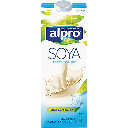 Alpro Soya Milk Sweetened 1 Litre Pack of 8