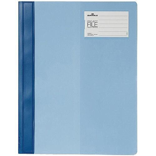 Durable A4 Clear View Project File Folder Blue