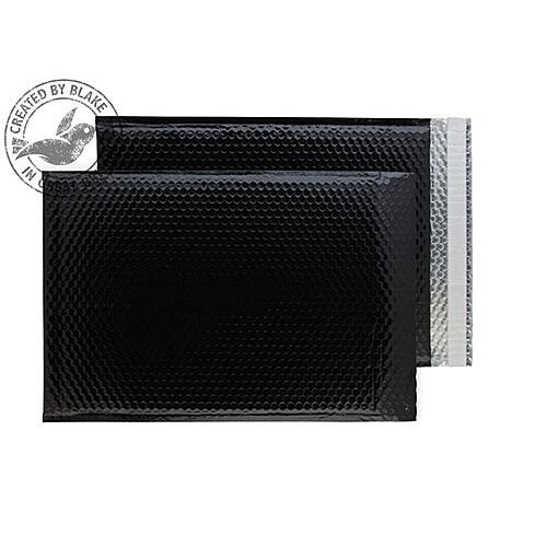 Purely Packaging Envelope P& 450x324mm Padded Metallic Black Ref MBB450 [Pk 50]